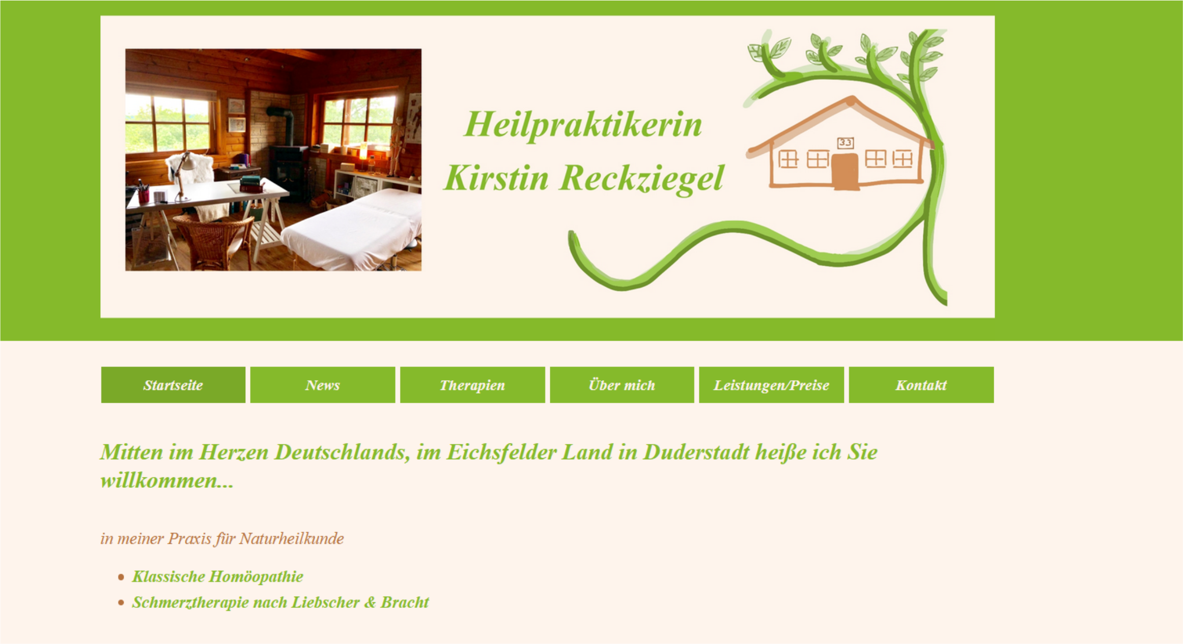 Referenz Homepage Kirstin Reckziegel