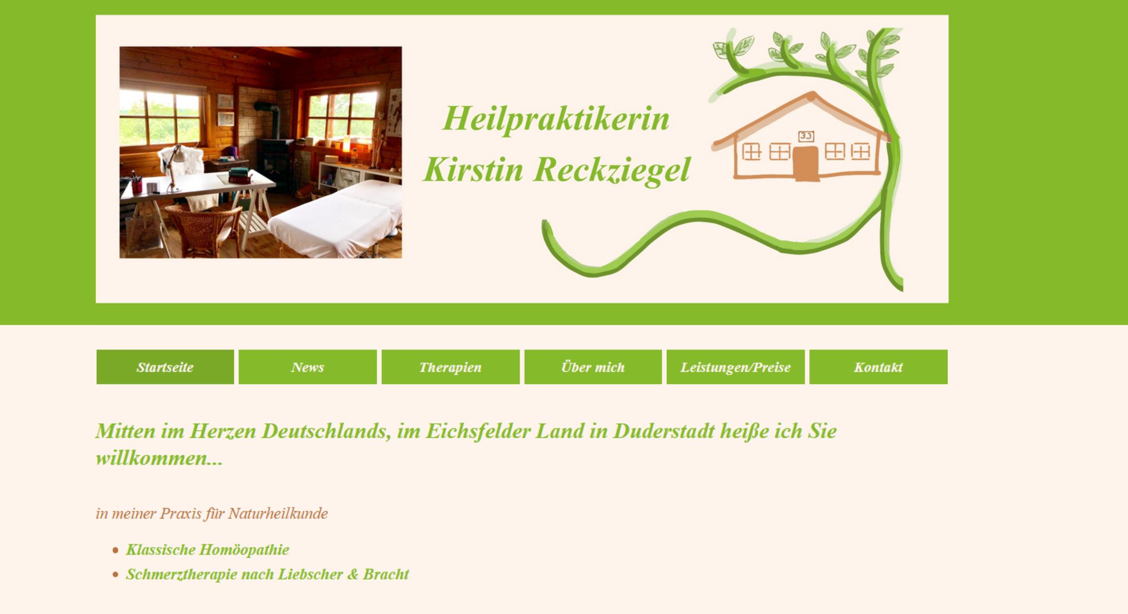 Referenz Homepage Kirstin Reckziegel