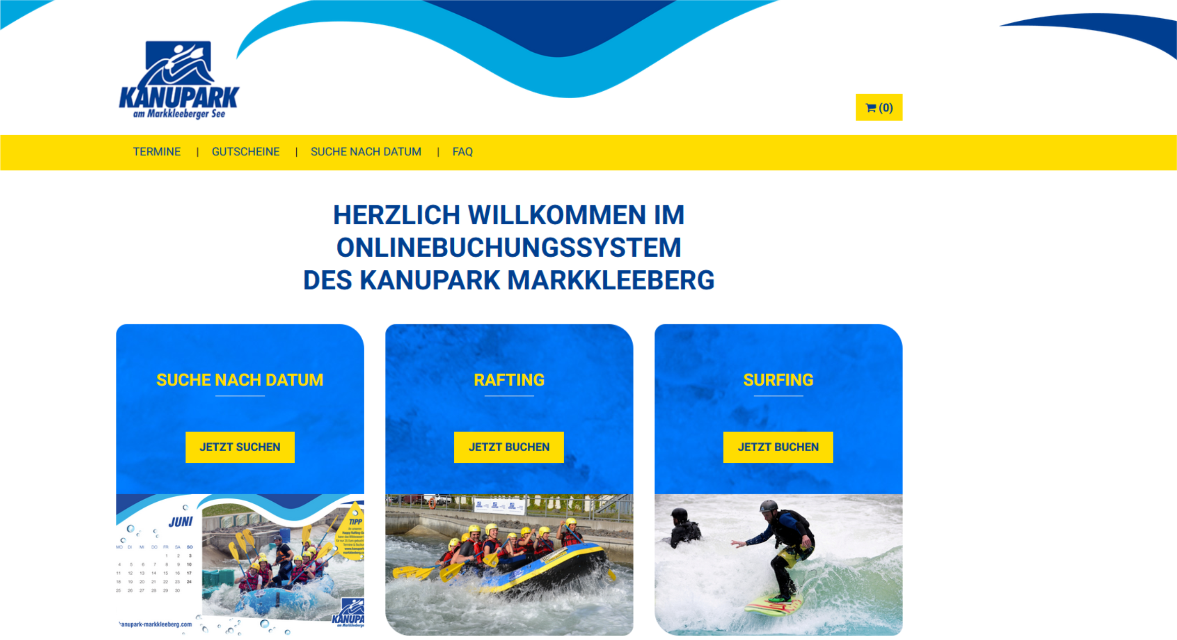 Referenz Online-Buchungssystem Kanupark Markkleeberg