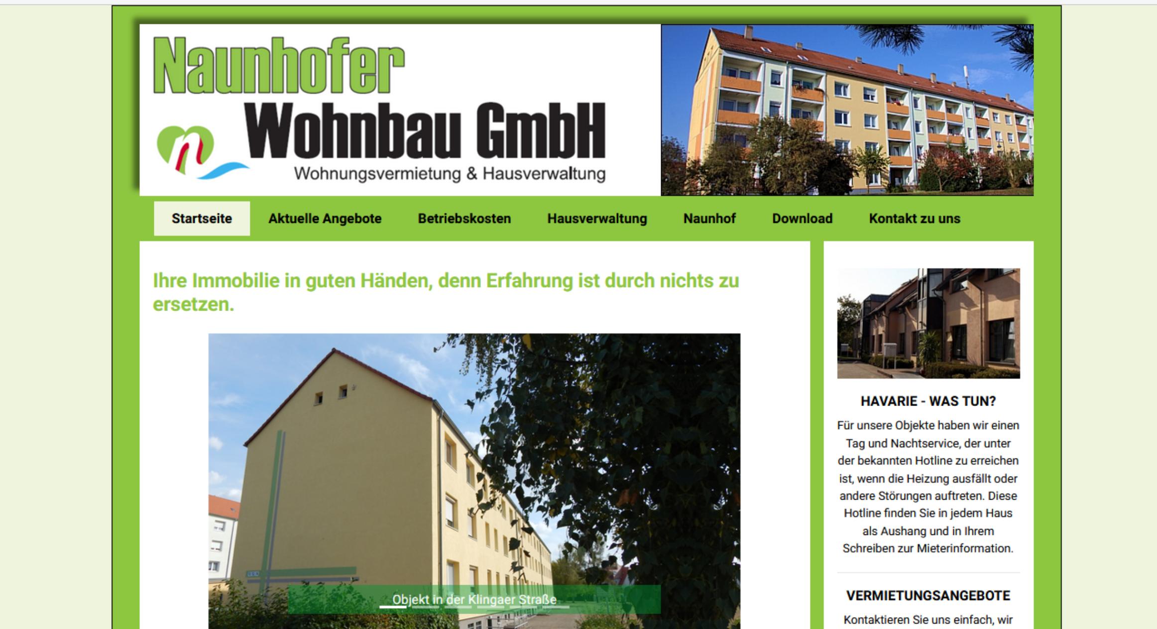 Referenz Naunhofer Wohnbau GmbH